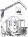 Bild der Hausarztpraxis im Innenhof (klein)