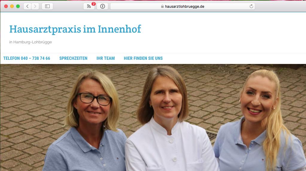 Online in der Hausarztpraxis im Innenhof Dr. med. Ismene Kappos-Baxmann