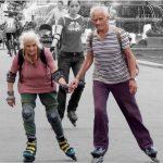 Fitte Senioren skaten